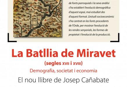 Biblioteca presentació del llibre La Batllia de Miravet a càrrec del seu autor Josep Cañabate
