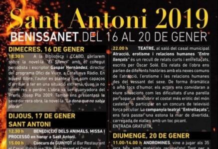 Programa d'actes Sant Antoni 2019