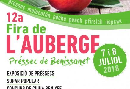 Fira  de l'AUBERGE, el préssec de Benissanet dies  7 i 8 de juliol de 2018