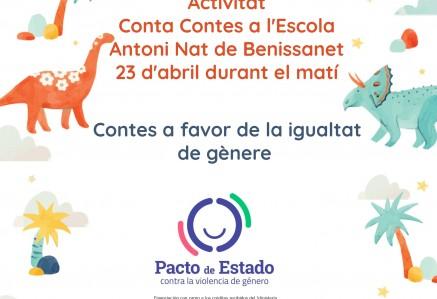 l'Escola Antoni Nat de Benissanet conta-contes igualtat de gènere