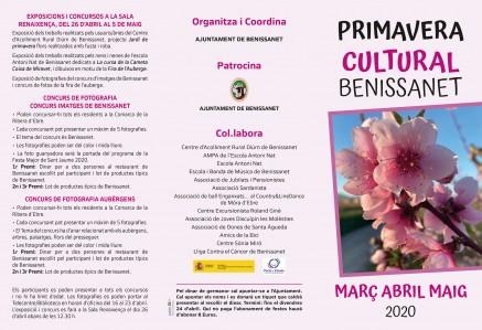 POSPOSAT TOTS ELS ACTES FINS NOU AVIS Primavera Cultural 2020